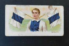 1905 Wills Capstan Cigarette Card Football Club Colours and Flags - Carlton F.C.