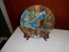 """The Blue Jay"" Kevin Daniel Encyclopedia Britannica Garden Plate, Knowles"