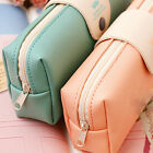Useful Leather Makeup Cosmetic Pen Pencil Case Organizer Zipper Pouch Bag Box