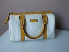 Gucci mini boston speedy bag stunning design in white brown GG logo joy supreme