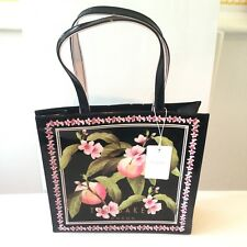Ted Baker NEW PVC Maecon Peach Blossom Large Print Icon Shopper Bag