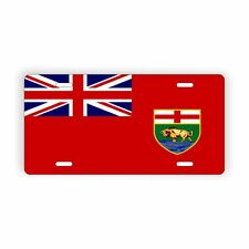 "Manitoba Provinical Flag Licence Plate 6"" x 12"" Aluminum Plate"