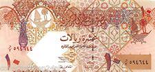 Qatar 10 Riyals 2003 Unc Pn 22
