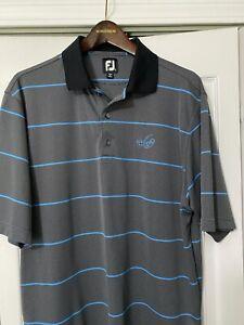 Footjoy Men's Golf Shirt Large WHISPER ROCK Logo Exc. Condition.