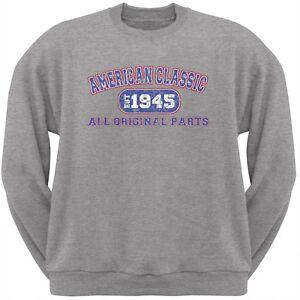 Classic American 1945 Funny Light Heather Grey Adult Sweatshirt