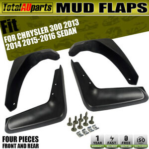 Set of 4 Mud Flaps Splash Guards Mudflaps for Chrysler 300 300C 2013-2016 Sedan