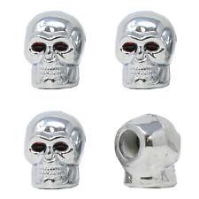 Universal Valve Stem Caps Skull Chrome Air Caps Tire Caps Car Truck Suv 4Pcs