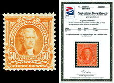 Scott 310 1903 50c Orange Jefferson Regular Issue Mint Fine LH Cat $400 PSE CERT