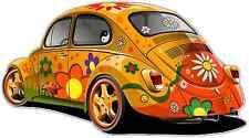 """Hippie Vehicles Volkswagen Beetle Car Bumper Window Sticker Decal 5""""X4"""""""