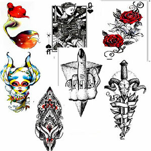 Set of 14 Temporary Tattoo Large Body Art Fake Waterproof Ladies.removable large