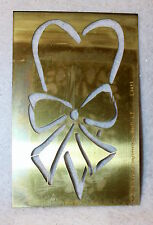 LASTING IMPRESSIONS Heart w/ Bow Brass Stencil NEW Airbrush Cards Emboss B22