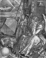 Albrecht Durer Melencolia Painting Engraving 8x10 Canvas Fine Art Print wat