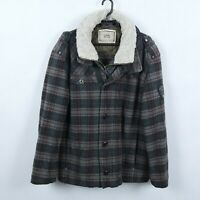 CAMEL ACTIVE Vintage Mens Grey Check Winter 2-in-1 Bomber Jacket SIZE L, UK 44