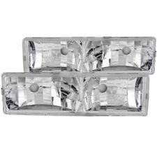 Anzo 111136 Crystal Headlight Set Clear Lens Chrome Housing Pair w/o Bulbs