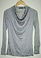 Esprit Woman's Lady's Designer Silver Top Blouse Modal Long Sleeve Size S