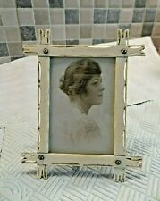 LOVELY ANTIQUE 19thC HAND CARVED PHOTO FRAME FREESTANDING WITH SMALL SWING STAND