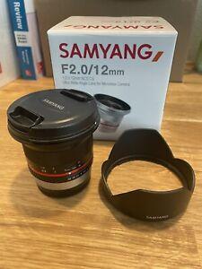 Samyang Rokinon 12mm f/2 (Fuji X mount)