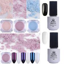 5Pcs Nail Glitter Powder Pearl Mirror Chrome Pigment BORN PRETTY UV Gel Polish