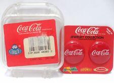 Coca-Cola - ORECCHINI BOLLO ROSSO - cm. 3