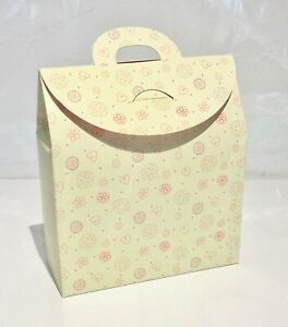 NEW Heart Gift Box Bags x 150 Flat Packed  Cream/Heart Pattern/Wholesale
