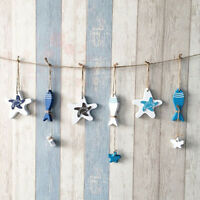 FP- Mediterranean Nautical Wall Decor Hanging Craft Wooded Fish Starfish Ornamen