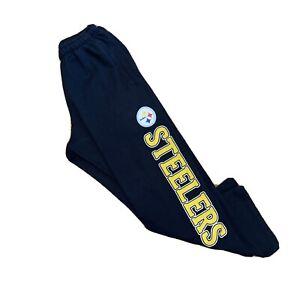 Pittsburgh Steelers Reebok Sweat Pants NFL Black Men's Size Small-Medium