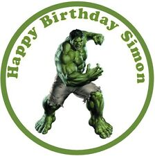 "Hulk Personalised 7.5"" Cake Topper Edible icing  Birthday Party Cake Topper"