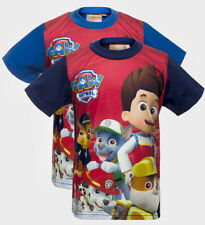 Exciting Paw Patrol Boys T-Shirt Top 2-3 4-5 5-6 7-8 Years Marshall Rocky Chase