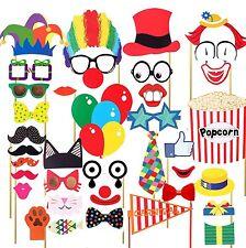 36pcs Masks Photo Booth Props Mustache Birthday Wedding Circus Clown US SHIP