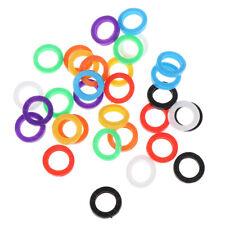 32X couleurs vives bouchon clé en silicone couvre cadeau Topper Porte-clés