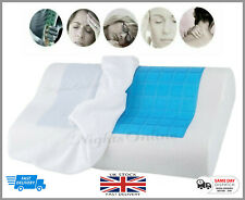 Cool Gel Memory Foam Contour Pillow Pad Orthopaedic Head Neck Back Firm Support