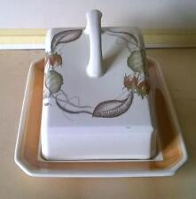 SUSIE COOPER - BUTTER DISH - VERY RARE - SIENNA PASTEL - VGC - COLLECTIBLE -