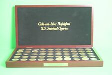 GOLD AND SILVER HIGHLIGHTED U.S. STATEHOOD QUARTERS