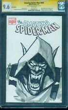 Amazing Spider Man 648 Variant Cgc Ss 9.6 Joel Gomez Man Wolf Sketch Top 1