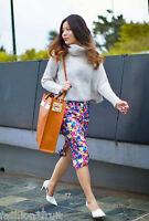 ZARA Woman Blue Floral Print Stretch Midi Pencil Skirt S UK Size 10