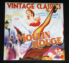 VINTAGE CLASSIC SHOW POSTERS 16-Mo 2012 CALENDAR Hepburn Monroe MOULIN ROUGE_NEW