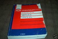 1991 GM Chevy Chevrolet Cavalier Service Shop Workshop Manual OEM Factory