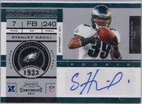 2011 Contenders Rookie Ticket Autograph - STANLEY HAVILI #178 Eagles RC Auto