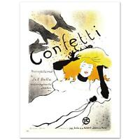 """Confetti"" Hand Pulled Lithograph by the RE Society  Henri de Toulouse-Lautrec"