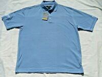 Nike Golf Dri-Fit Polo Shirt NWT - Size L - Blue - Short Sleeves - Van Kampen