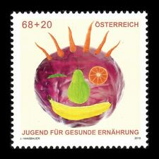 Austria 2015 - Youth Stamp Eat Healthy Foot Art - MNH