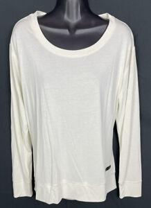 Under Armour Womens Top Sz Medium Loose Fit Shirt Modal Blend Cut Out NWT NEW
