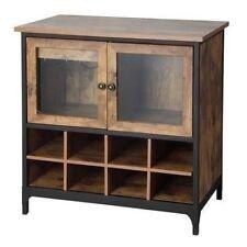 NEW Wine Rack Storage Holds 8 Bottles Wooden Liquor Cabinet Bar Rustic Brown NIB