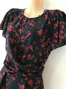 NWT SABA Floral Mini Wrap Dress 8