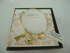 Alex and Ani GIRLS JUST WANNA HAVE SUN Gold Charm Bangle New W/Tag Card & Box