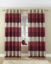 Rio Lined Printed Faux Silk Ring Top Heading Curtains NEW COLOURS NOW IN STOCK