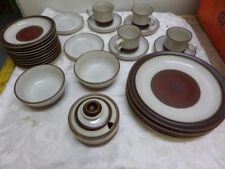 Unboxed Stoneware Denby, Langley & Lovatt Pottery Dinner Plates
