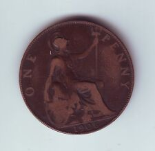 1906 Great Britain Penny UK Coin Q-563