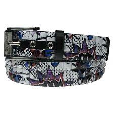 PF60 Adult Jeans Wear UK Seller Polyurethane Leather Pyramid Design Studded Belt