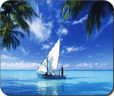 Scenic Sailing Sail boat tropical beach Large Mousepad Mouse Pad Great Gift Idea